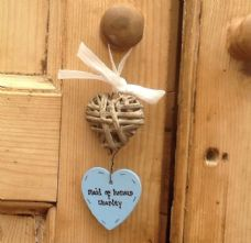 Shabby Personalised Chic Heart Willow Stringer Wedding Maid Matron Of Honour Etc